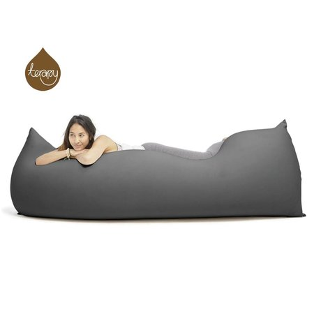 Terapy Beanbag Baloo dark gray cotton 180x80x50cm 700liter