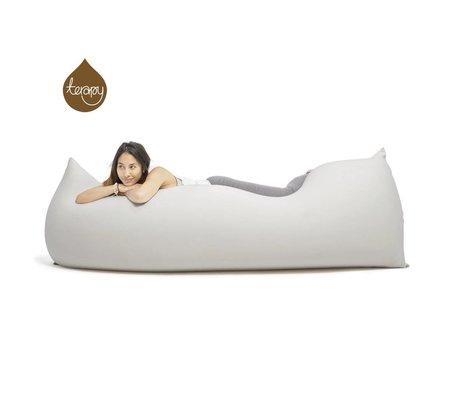 Terapy Beanbag Baloo gri pamuk 180x80x50cm 700liter ışık