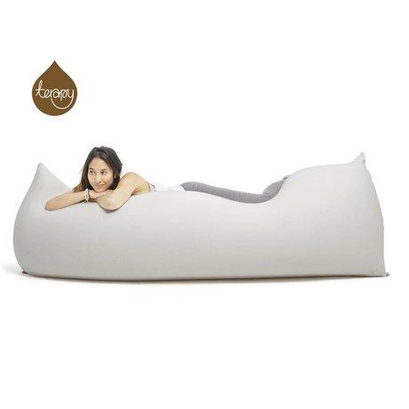 Terapy Beanbag Baloo grigio chiaro cotone 180x80x50cm 700 litro