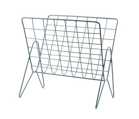 Housedoctor Magazine rack News metal gray 27x37cm, H37cm