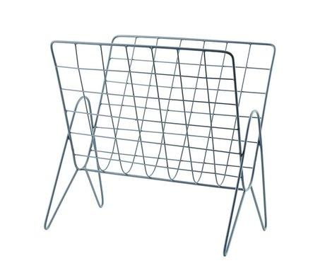 Housedoctor Porte-revues Nouvelles métal gris 27x37cm, H37cm