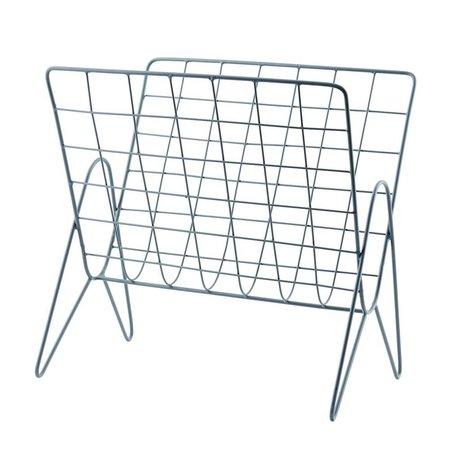Housedoctor Magasin rack Nyheder metal grå 27x37cm, H37cm