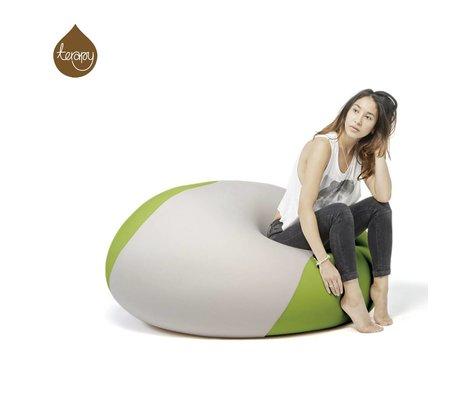 Terapy Beanbag Ollie lys grå grøn 100x100x80cm 700liter