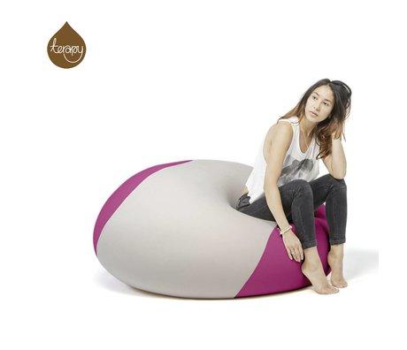 Terapy Beanbag Ollie grigio chiaro rosa 100x100x80cm 700 litro