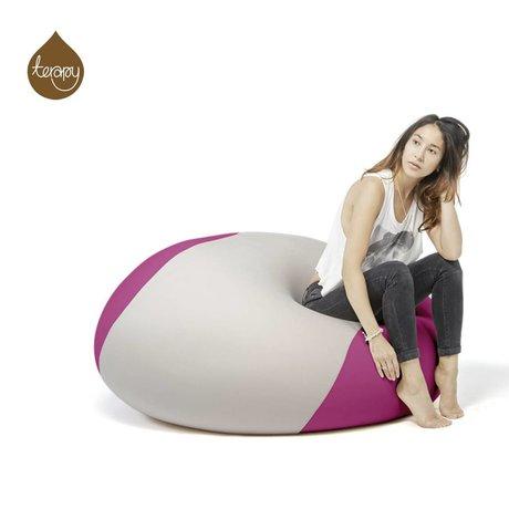 Terapy Beanbag Ollie gris claro de color rosa 700 litros 100x100x80cm