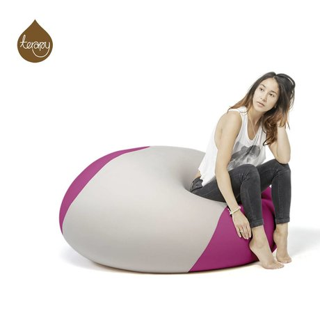 Terapy Beanbag Ollie lys grå lyserød 100x100x80cm 700liter