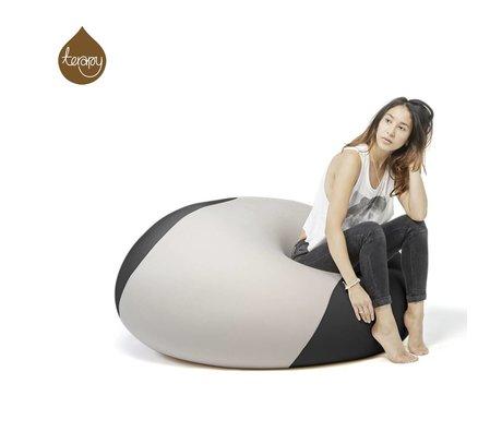 Terapy Beanbag Ollie grigio chiaro nero 100x100x80cm 700 litro