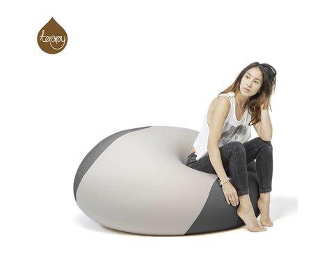 Terapy Beanbag Ollie lys grå mørkegrå 100x100x80cm 700liter