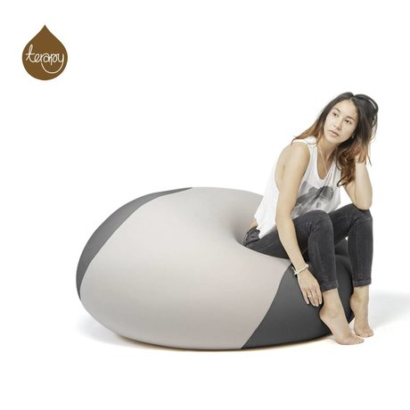 Terapy Beanbag Ollie gri, koyu gri 100x100x80cm 700liter ışık