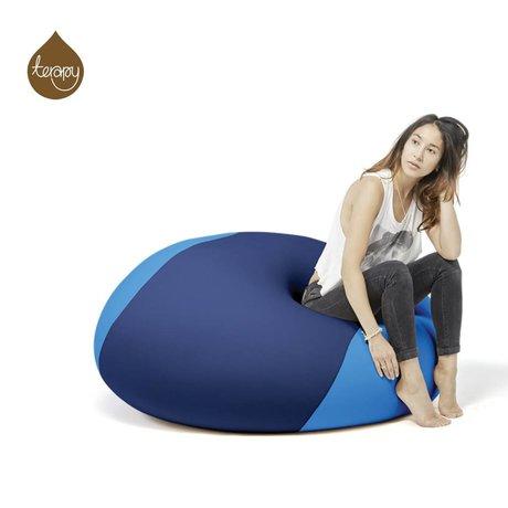 Terapy Sitzsack Ollie, blau/türkis, 100x100x80cm 700liter