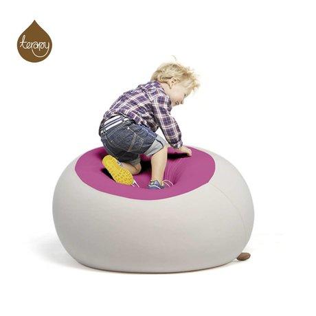 Terapy Sitzsack Stanley, hellgrau/rosa, 70x70x80cm 320liter