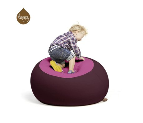 Terapy Beanbag Stanley rosa berenjena 70x70x80cm 320 litros