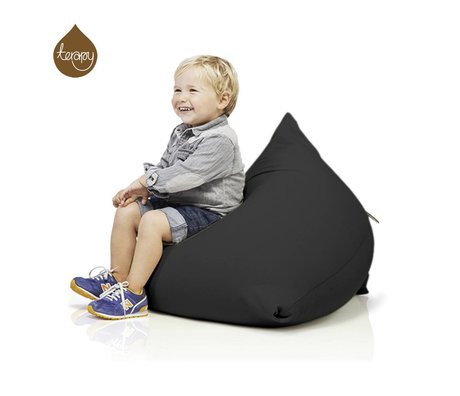 Terapy Sitzsack Sydney Pyramide aus Baumwolle, schwarz, 60x60x60cm 130liter