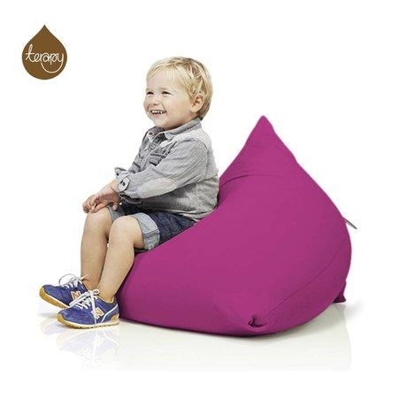 Terapy Pyramide pouf Sydney coton rose 60x60x60cm 130liter