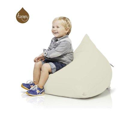 Terapy Beanbag Sydney pyramide råhvid bomuld 60x60x60cm 130liter