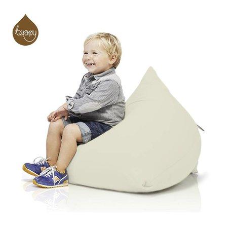 Terapy Piramide Beanbag Sydney bianco sporco di cotone 60x60x60cm 130 litro