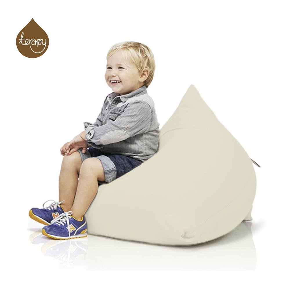 Terapy Sitzsack Sydney Pyramide Aus Baumwolle Creme 60x60x60cm 130liter