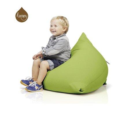 Terapy Sitzsack Sydney Pyramide aus Baumwolle, grün, 60x60x60cm 130liter