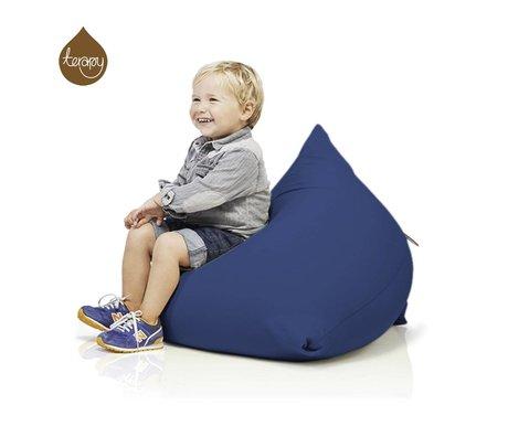 Terapy Pyramide pouf Sydney coton bleu 60x60x60cm 130liter