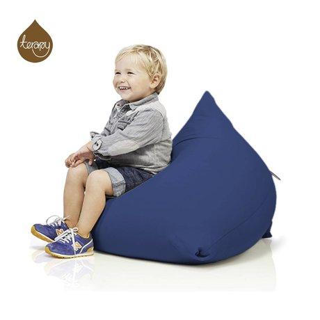 Terapy Beanbag Sydney pyramide blå bomuld 60x60x60cm 130liter