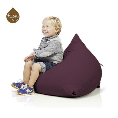 Terapy Sitzsack Sydney Pyramide aus Baumwolle, aubergine, 60x60x60cm 130liter
