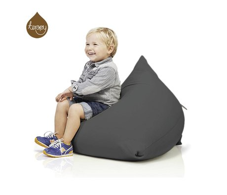 Terapy Beanbag Sydney pyramide mørkegrå bomuld 60x60x60cm 130liter