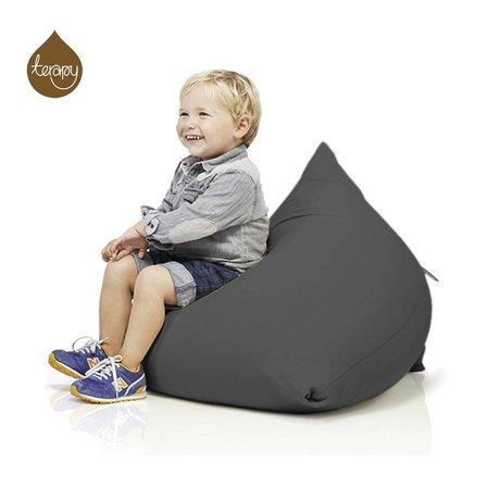 Terapy Beanbag Sydney pyramid dark gray cotton 60x60x60cm 130liter