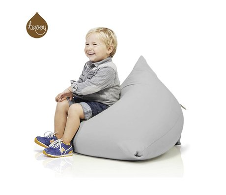 Terapy Beanbag Sydney pyramide lysegrå bomuld 60x60x60cm 130liter