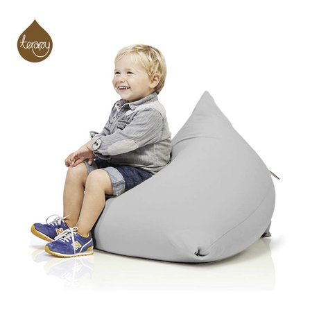 Terapy Sitzsack Sydney Pyramide aus Baumwolle, hellgrau, 60x60x60cm 130liter