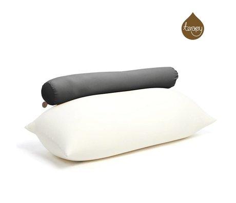 Terapy Beanbag Toby cotone nero 160x25x25cm 120 litro