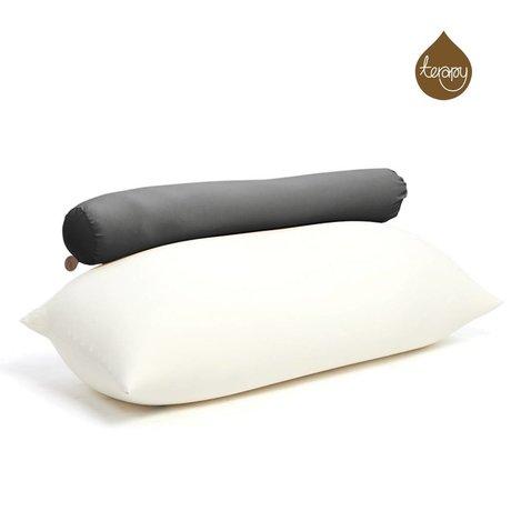 Terapy Sitzsack Toby aus Baumwolle, schwarz, 160x25x25cm 120liter