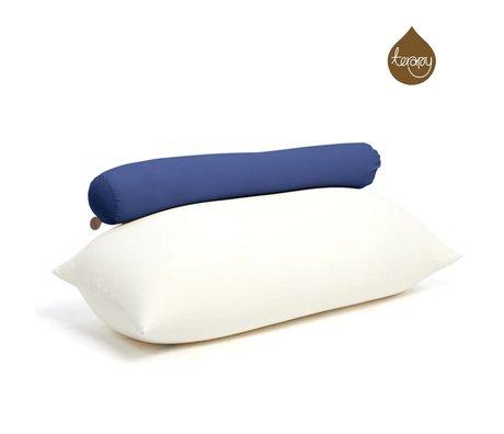 Terapy Beanbag Toby mavi pamuklu 160x25x25cm 120liter