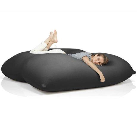 Terapy Sitzsack Dino aus Baumwolle, schwarz, 180x160x50cm 1400liter