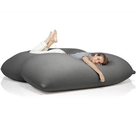 Terapy Beanbag Dino dark gray cotton 180x160x50cm 1400liter