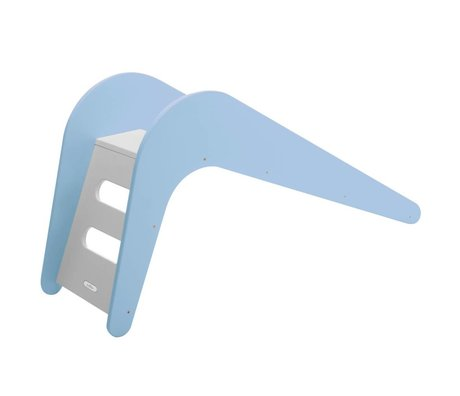 Jupiduu Deslice la ballena azul de madera, azul, 145x43x68cm
