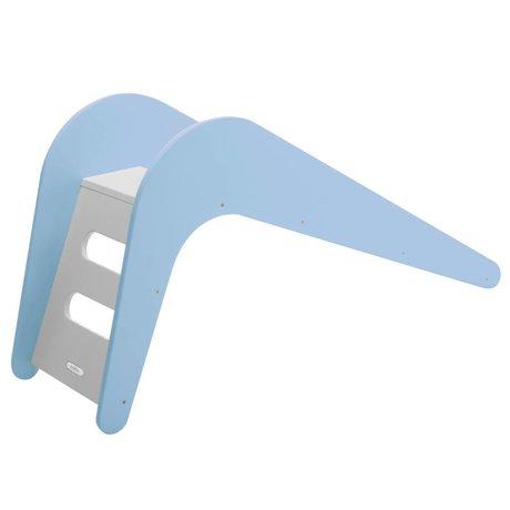 Jupiduu Far scorrere Blue Whale di legno, blu, 145x43x68cm