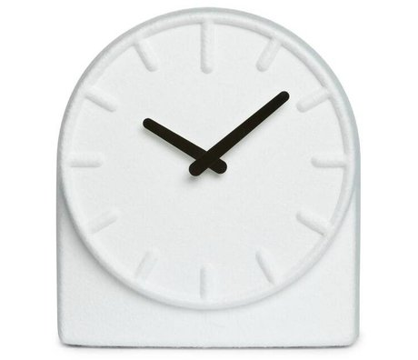 LEFF amsterdam Felt clock Two white with black hands 19,5x8x21cm