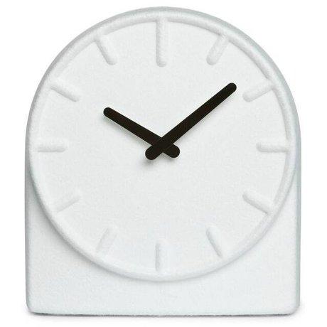 LEFF amsterdam Filt ur To hvid med sorte hænder 19,5x8x21cm