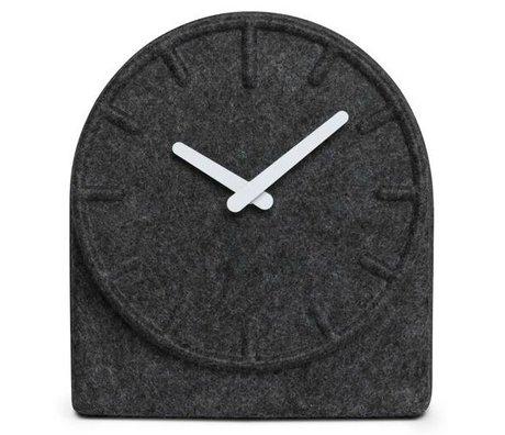 LEFF amsterdam Orologio in feltro grigio con il bianco Due mani 19,5x8x21cm