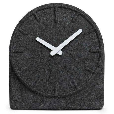 LEFF amsterdam Reloj sintió dos gris con las manos blanco 19,5x8x21cm