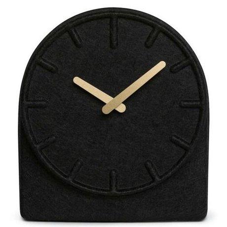 LEFF amsterdam Pirinç eller 19,5x8x21cm ile Keçe İki siyah saat
