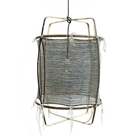 Ay Illuminate Bambu gri ipek kaşmir kapak ø48.5x72,5cm ile asılı lamba
