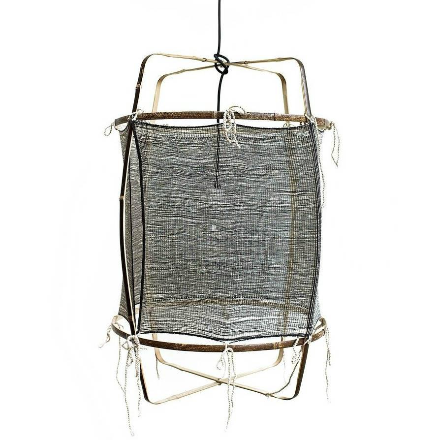 Ay Illuminate Hangelampe Mit Bambus Seide Kaschmir Cover Grau