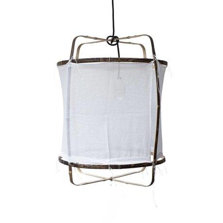 Ay Illuminate Ciondolo di bambù con coperchio cotone bianco ø42x57cm