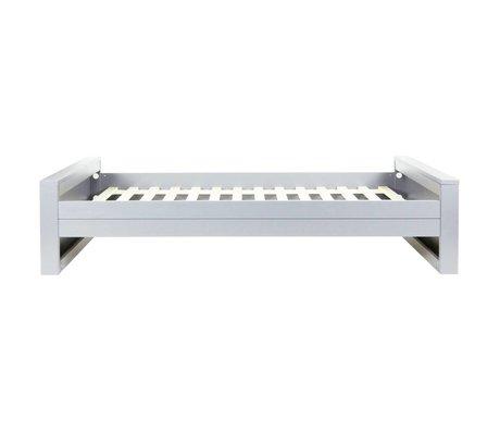 LEF collections Bed én-persons Skye / Dennis 'beton grå børstet fyr 53x219x95cm