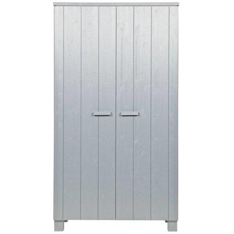 LEF collections Garderobe Dennis beton grå børstet fyr 202x111x55cm