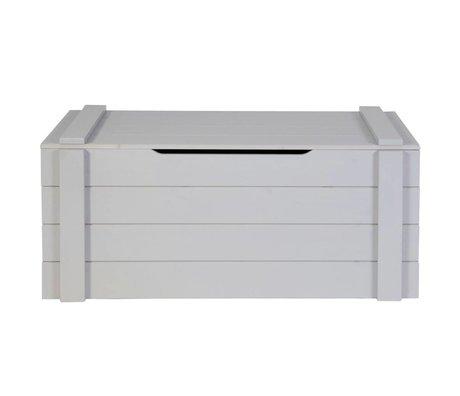 LEF collections Cajas de almacenamiento Dennis hormigón gris cepillado 42x90x42cm pino