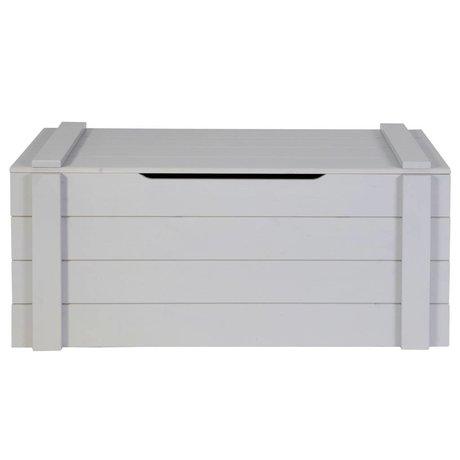 LEF collections Storage boxes Dennis concrete gray brushed pine 42x90x42cm