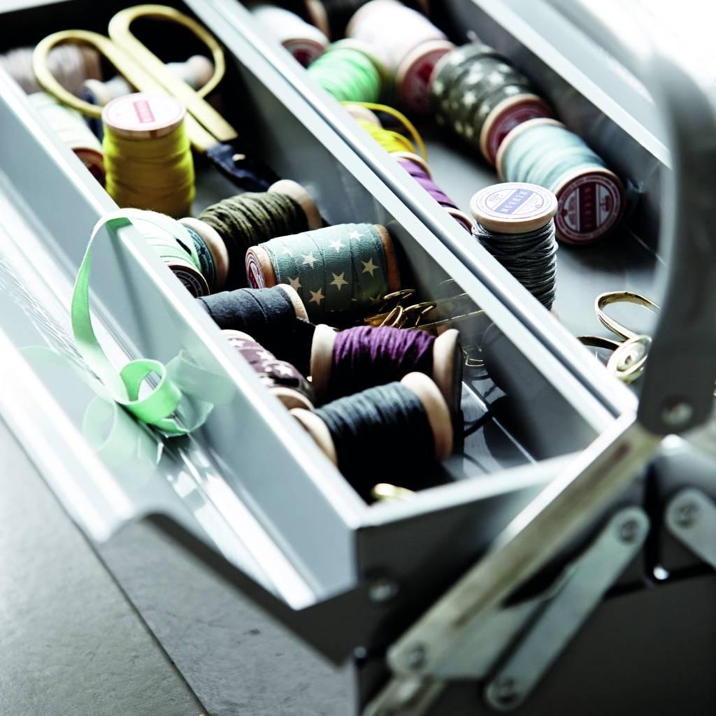 housedoctor stockage bo tes outil 42x20xh11 5cm bleu gris. Black Bedroom Furniture Sets. Home Design Ideas