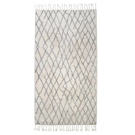 HK-living Large checkered carpet mat 90x175cm